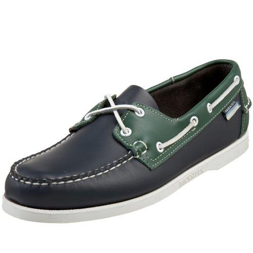 Sebago Men's Spinnaker Shoe,Navy/Green Marine/Vert ,7.5 W US Navy/Green Marine/Vert
