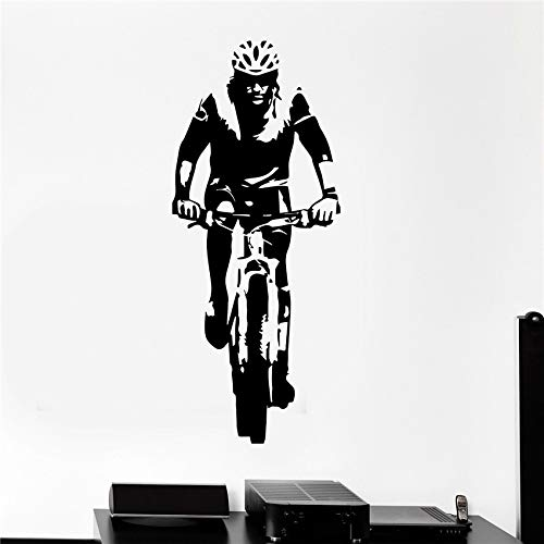 Vinyl Aufkleber Radfahrer Sport Fahrrad Wandaufkleber Kunstdekor Wohnkultur Wandtattoos Wohnzimmer Wandaufkleber 58 X 136 CM