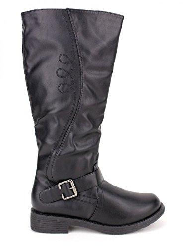 Cendriyon, Botte noire ELIADA Mode Chaussures Femme Noir