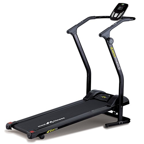 Movi Fitness MF101, Tapis Roulant Magnetico, Nero,