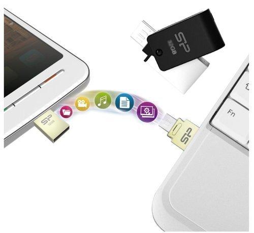 Allcam X21 16GB USB Flash Drive & Micro-USB-OTG-Add-on-Speicher-Stick für Android Smartphones und Tablets (Ausgestattet mit Micro-USB-und Standard-USB-Anschlüsse für einfache Übertragung von Daten zwischen Smartphones / Tablets & Computers) (Add-on-speicher-stick)