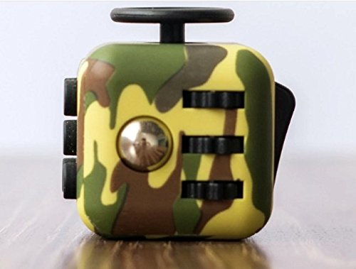 Fidget Cube Relieves Stress And Anxiety for Children and Adults (camouflage Green)