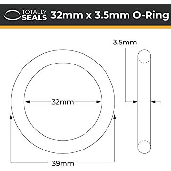 40mm OD Pack of 10 34mm x 3.5mm Nitrile Rubber O-Rings 70A Shore Hardness