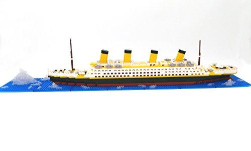 Brigamo Spiele 479 – Titanic Bausteine Schiff, 450 Teile, 60 cm lang, kompatibel mit den gängigen Marken Bausteinen - 7
