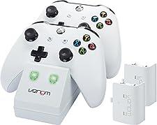 Venom Twin Docking Station inkl. 2 Zusatzakkus für Xbox One & One S - weiß - Perfekt für die weiße Xbox One S & Xbox One Konsole