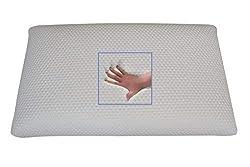 Supply24 Orthopädisches Gel Gelschaum Kopfkissen Bauchschläferkissen Nackenstützkissen 80 x 40 x 9 cm Schlafkissen für Bauchschläfer softes/weiches Kissen
