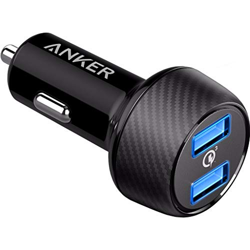 Anker PowerDrive Speed 2 39W Auto Ladegerät, 2 Port Kfz Ladegerät mit Quick Charge 3.0 und PowerIQ für Samsung Galaxy/Note/ S9, iPhone, iPad, HTC, LG, Smartphones, Tablets, Powerbank und mehr