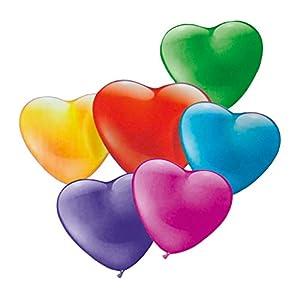 Globos Susy Card 40011677 de corazones, 20 unidades. , Modelos/colores Surtidos, 1 Unidad