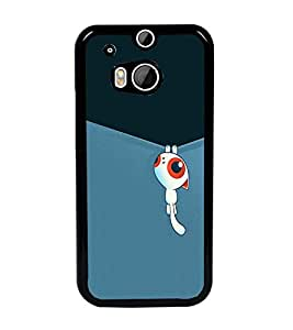 PrintDhaba Cartoon D-2312 Back Case Cover for HTC ONE M8 (Multi-Coloured)