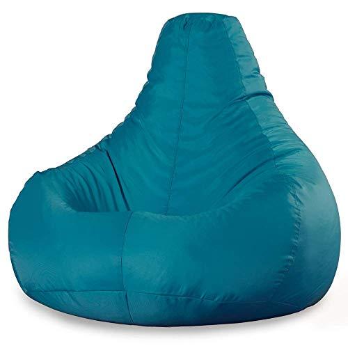 Bean Bag Bazaar Gamer Sitzsack – Blaugrün, ExtraGroß, 98cm x 74cm - Wasser Abweisend für Innen...