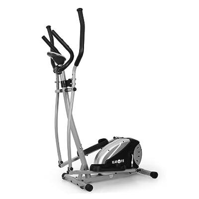 Klarfit ELLIFIT BASIC 20 Hometrainer eleganter Crosstrainer inkl. Trainingscomputer & Pulsmesser (8-stufiger Widerstand, Anzeige: Kalorienverbrauch, TÜV/GS zertifiziert) silber