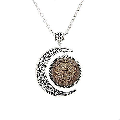 b2b Maya-Kalender - mexikanischer Kalender - Maya-Mond-Halskette - Aztekenkalender -