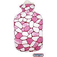 2,0 Liter Wärmflasche mit Plüschbezug - Design Mosaik preisvergleich bei billige-tabletten.eu
