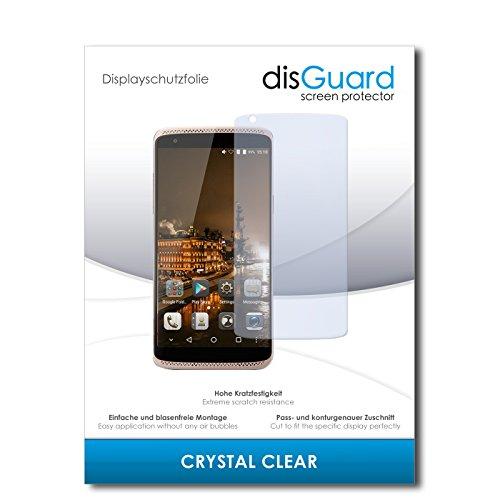 disGuard® Displayschutzfolie [Crystal Clear] kompatibel mit ZTE Axon Mini Premium Edition [4 Stück] Kristallklar, Transparent, Unsichtbar, Extrem Kratzfest, Anti-Fingerabdruck - Panzerglas Folie, Schutzfolie