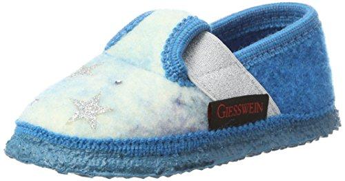 Giesswein Mädchen Trinum Hausschuhe, Blau (Cyanblau), 33 EU (33% Wolle)