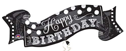 Amscan Folienballon Super Shape Happy Birthday Tafel