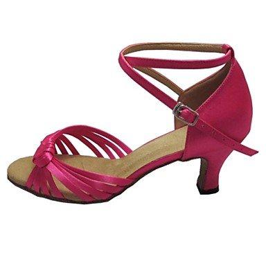 Cetim Tan Sapatos De Sandália Correspondida Dedo De Mulheres Xiamuo Para Aberto Latino Calcanhar q7YHng