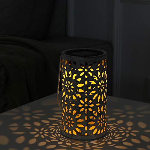 LEDMOMO Retro- LED Solarlichter zylinderförmige Chrysantheme Pin Hängende Solarglühlampe für Patio-Hof-Garten