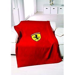 FERRARI F1 Scudetto Fleece Decke, rot, One Size