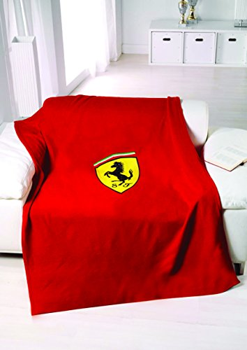 FERRARI F1 Scudetto Fleece Decke, rot, One Size