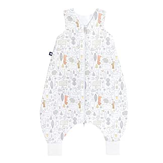 Julius Zöllner 9082569300Jersey Jumper–Saco de dormir con patas–Forest Talla 80, color blanco
