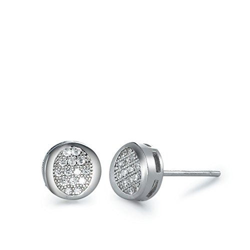 Ohrstecker Silber Zirkonia rhodiniert Ø7.5 mm, Anzahl Steine: 28, Beschichtung: rhodiniert, Durchmesser: 7.5 mm, Zielgruppe: XVision