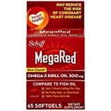 MegaRed+ 10434 Omega-3 Krill Oil Softgel, 60 Count by Megared