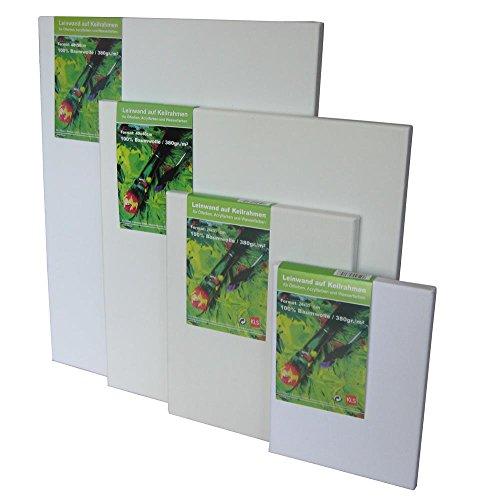 KLS 18X24 Leinwand, Baumwolle/Holzrahmen, weiß, 18 x 24 x 2 cm -