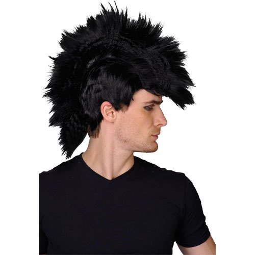 Dark Punk Rocker Wig for Men