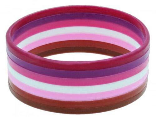 Kostüm Lesbisch - Unbekannt Gay Schwul Regenbogen CSD Pride LGBT Rainbow KOSTÜM Zubehör Armband SCHMUCK FLAGGEN HAARBÄNDER HOSENTRÄGER - vertrieb durch ABAV (1x Armband Lesbisch/Lesbian ZJBL 255)