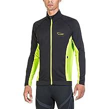XAED Chaqueta Termica Función, Hombre, running, compression, Negro/Amarillo, L