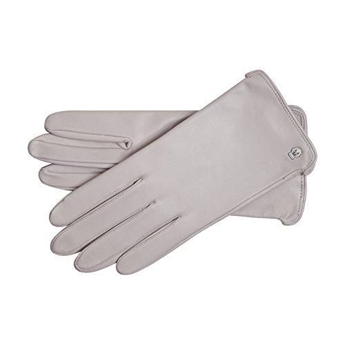 Roeckl Damen Colour Power Handschuhe, Grau (Cloud 106), 7.5 - Klassische, Ungefütterte Handschuhe