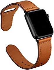 Leather loop strap For Apple watch band 44 mm - 42mm Genuine Leather watchband bracelet Apple watch 4 3 2 1 -