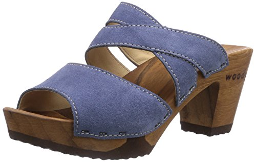 Woody - Samantha, Zoccoli da donna Blu (Blau (Space))