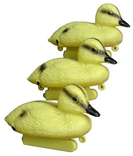 3Stück Dekorative Kunststoff schwimmende gelb Teich Entchen