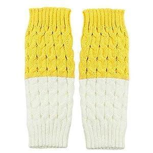 Sixlus Gestrickte Farbabstimmung Socken Manschetten Zweifarbige Leggings Short Leg Sets EIN Paar