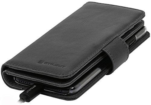 StilGut Talis XL Custodia protettiva per iPhone 8 Plus e iPhone 7 Plus con tasche per carte. Chiusura a libro Flip Case per loriginale iPhone 8 Plus e iPhone 7 Plus, nero iPhone 8 Plus e iPhone 7 Plus - Nero