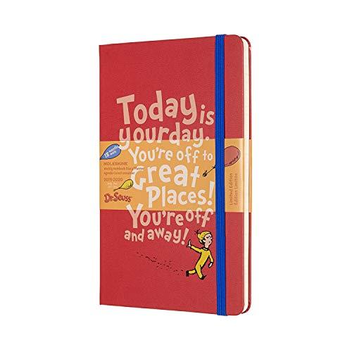 Moleskine Wochen Notizkalender, Taschenkalender, 18 Monate, 2019/2020, Dr. Seuss, Large, A5, Hard Cover, Rot - Wieder Um Leben Zu