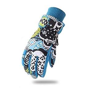 LORYLOLY Skihandschuhe für Kinder, -40 ℃ Thermische Winter kaltem Wetter Handschuhe für 3-11Y Mädchen Junge, Wasserdichtes Winddichtes Gleitschutz Schnee Handschu für Skaten Skifahren Snowboardfahren