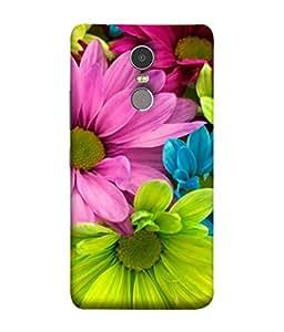 PrintVisa Designer Back Case Cover for Lenovo K6 Note (Bright Bouquet Floral Blossom Beauty Natural White)