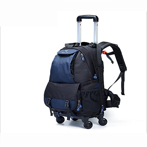 Multifunction-Camera-Laptop-backpack-Rucksack-4-wheel-pulley-360--rotation