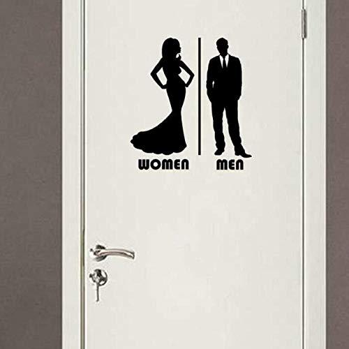 Wandtattoos, Wandbilder, Diy Hintergrund Wandtattoos Pvc_ Boutique Männer Und Frauen Toilettenpfosten Hintergrund Wandtattoos Pvc Removable