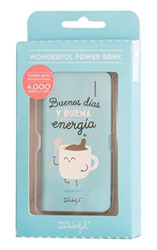 Mr. Wonderful WOA02941 - Batería externa de 4000 mAh