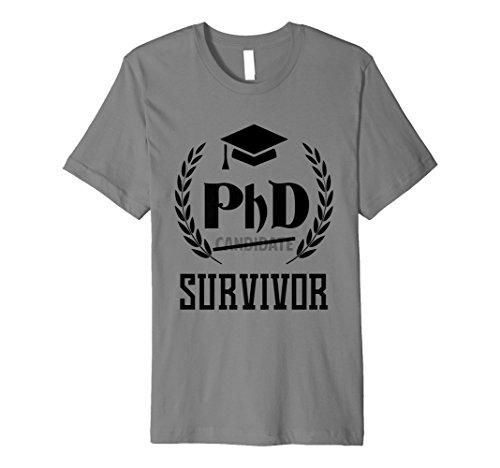 Funny PHD Survivor T-Shirt Graduation Student Lehrer
