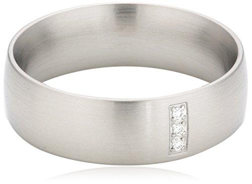 Xen Damen-Ring Edelstahl Zirkonia weiß Gr.54 (17.2) 011333G54