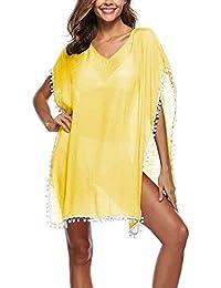 Amazon.es  Faldas Con Flecos - Amarillo   Faldas   Mujer  Ropa a4cd8989219f