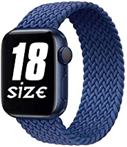 D'VOGUE Braided Solo Loop Sports Strap Elastic Bands Compatible for Apple Watch Band Stretchy Sports Women