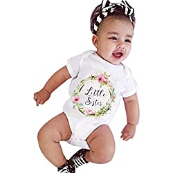 Fulltime(TM) 0-7 Years Old born Infant Baby Girls Letter Clothes Short Sleeve T-shirt Blouse Tops