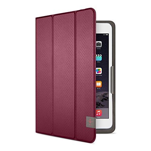 Belkin Universal Trifold Schutzhülle (für Tablets, Apple iPad mini 1-4, Samsung Galaxy Tab A (8 Zoll), Samsung Galaxy Tab S2 (8 Zoll)) dunkelrot