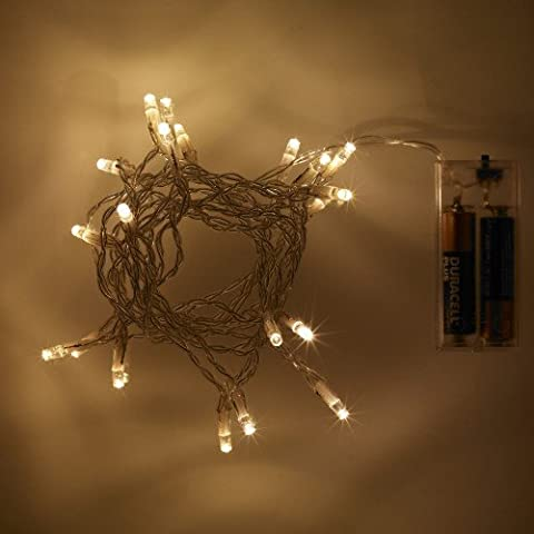 Battery Operated Fairy Lights with 20 Warm White LEDs by
